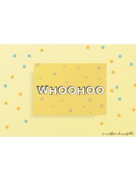 """Wenskaart """"Whoohoo"""" / 5 stuks"""