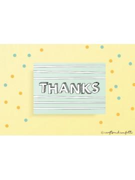 "Wenskaart ""Thanks"" / 5 stuks"