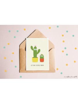 "Wenskaart ""Cactus"" / 5 stuks"
