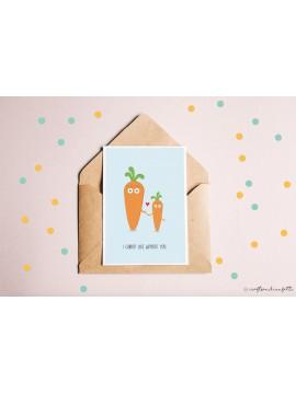 "Wenskaart ""Carrot"" / 5 stuks"
