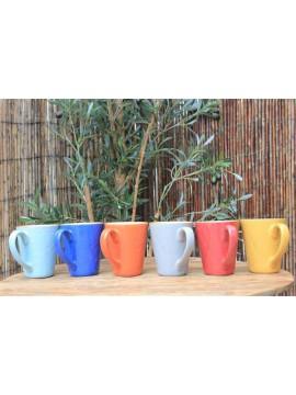 mok (6 stuks in verschillende kleuren)
