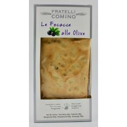 Focaccia secca met zwarte olijven (12x300g)